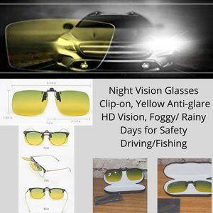 NWOT Premium clip-on/flip-up night driving glasses